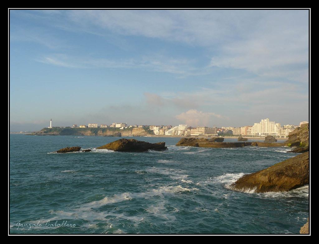 La Grande Plage desde Le Rocher de la Vierge (Biarritz)
