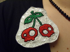 Skully Cherry Brooch