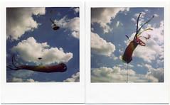 Spinner. (softlad - resting between engagements) Tags: london polaroid sx70 blackheath bikes kites 600 sonar se10 polaroidsx70sonar blackheathbikekitefestival upcoming:event=2810703