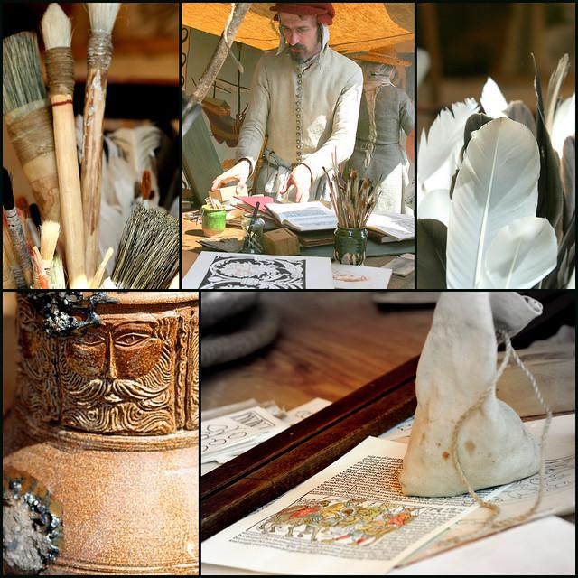 Manuscript painter's atelier