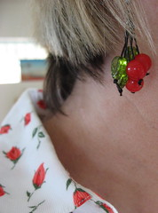 Earrings by BeeJayKay (JoulesVintage) Tags: cherryearrings bybev