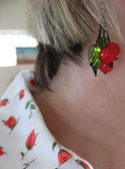 Earrings by BeeJayKay (JoulesVintage) Tags: cherryearrings bybev