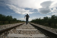 I'm still running away (Vincepal) Tags: escape railway running run runaway dontlookback runningaway brokenthought