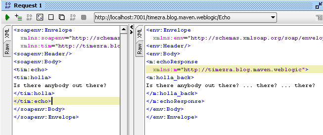 Holla-ing to the Echo Web Service through soapUI.