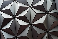 Epcot (JoshCollins!) Tags: world texture geometric ball epcot triangle minolta disney disneyworld