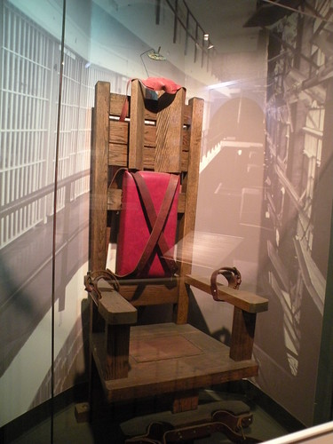 A retired electric chair. Image courtesy of Bettie Page Styled