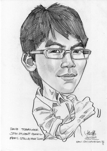 Caricature for Maris Stella High School -7