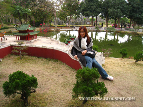 nicolekiss sitting on yue yang tower