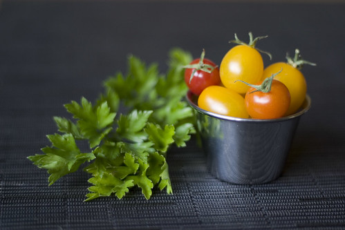 Parsley and tomatoes