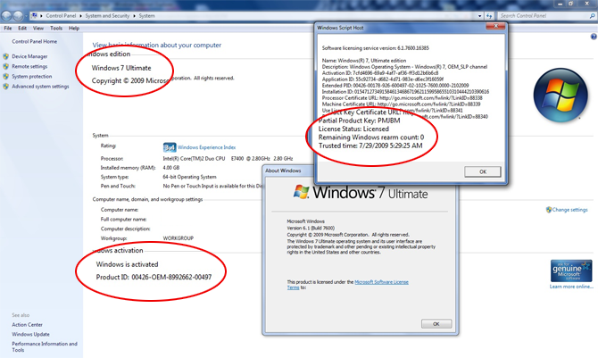 lenovo windows 7 ultimate activation key
