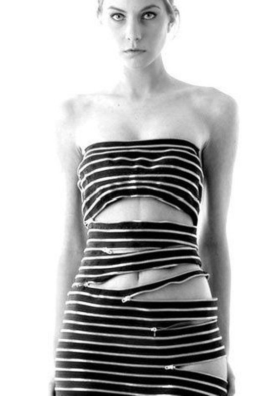 Sebastian Errazuriz body-con zipper dress 1