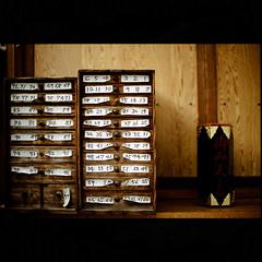 Kiyoshikojin shrine (Masahiro Makino) Tags: japan photoshop 50mm nikon kyoto f14 case number adobe drawer   f3 nikkor dnp lightroom  centuria400 20090730nfcenturia4005lps640p