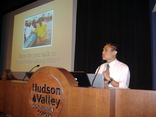 me giving a presentation on Global Kids' digital games programs at GIE09