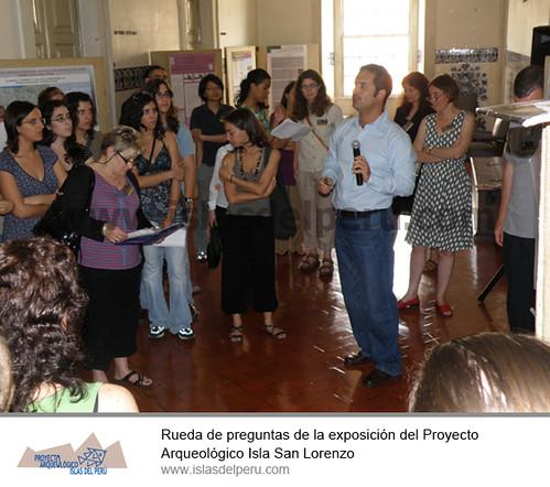 Rueda de preguntas de la exposición del Proyecto Arqueológico Isla San Lorenzo