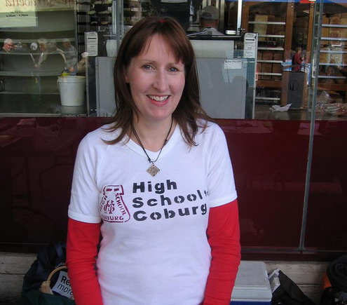 dianne in HSC t-shirt