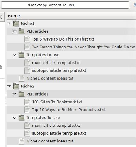 Organized Folder Structure