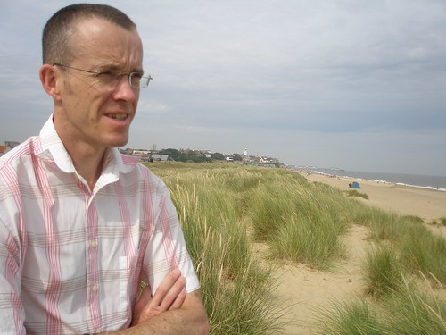 Michael in the dunes, Southwold