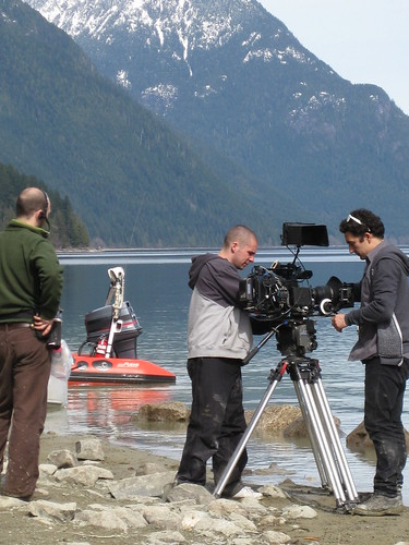 Filming in Golden Ears Provincial Park: Beauty is one of the blessings of being a set teaching agency in Vancouver!