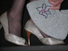 My new fancy crocheted purse (elaposata) Tags: flower embroidery crochet purse embroider