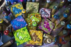 Canvas 4 sale... (LukeDaDuke) Tags: dog colour painting toy gold stencil montana colours paintings canvas crew sw spraypaint doggy aerosol vector vst lukedaduke stickerwar vstcrew