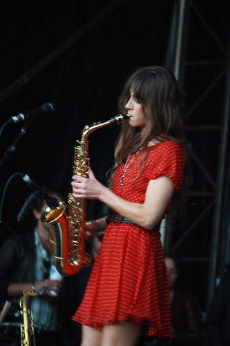 Abi Harding from The Zutons on stage at BML