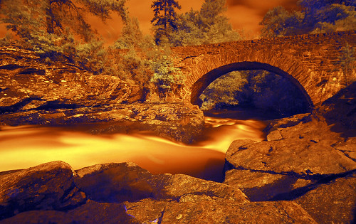 Killin bridge taken with an infrared filter