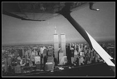 WTC aerial - Pre-9/11 (DUKEDLF) Tags: plaza new york nyc white ny newyork black skyline plane early downtown worldtradecenter 911 11 aerial september pre wtc worldtrade arial wt pre911 dukedlf