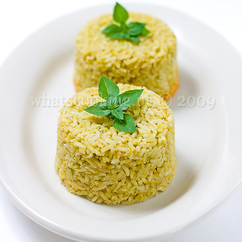 Tomatillo and basil rice