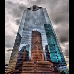 SCRAPING THE SKY:OVERCAST (ANVAR - RUSSIANTEXAN ) Tags: urban building glass reflections concrete mirror nikon downtown texas steel houston overcast tall hdr skyscrapper russiantexan explored d700 explorefp clougds nikonflickraward nikon14mm24mmf28gedifafs anvarkhodzhaev russiantexas explorefrontpagesep202009 exploredsep20200981 svetan svetanphotography