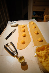 Using a tsp cookie scoop for even filling