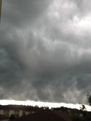 twister (SomniumUltra) Tags: pictures houses sky clouds dark grey twister tornado twisting