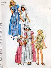 Girls size 10 Simplicity dress pattern (retro-thrift) Tags: girls scarf vintage long pattern play sewing dresses short simplicity 1970s boho