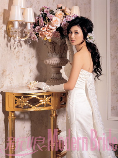 Chinese Actress Tong Lei Wedding Dress Photos