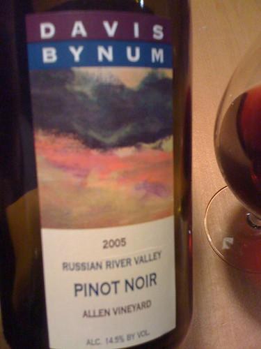 2005 Davis Bynum Allen Vineyard Pinot Noir