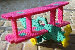 3-D Perler Bead Airplane Bi-Plane (Kid's Birthday Parties) Tags: airplane 3d craft bead perler biplane perlerbeads airplaneproject 3dperlerbeadcraft 3dperlerbeadproject 3dperlerbeadbiplane
