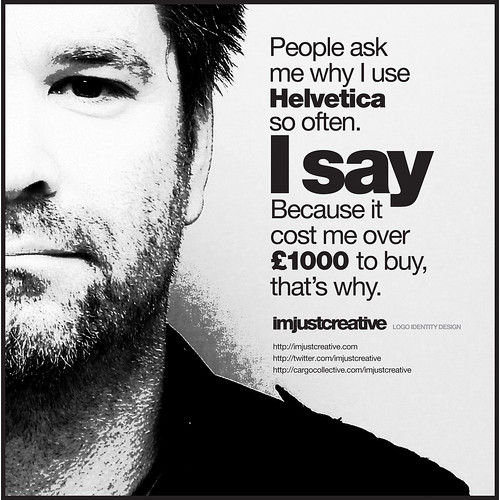 Why I use Helvetica So Often Self-Promo Poster