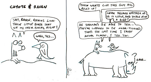 366 Cartoons - 264 - Coyote and Raven