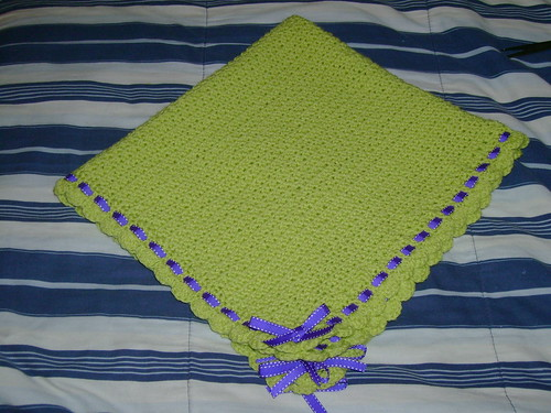 Green Baby Blanket Donation 011