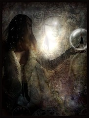 eukrendis numerosa- the mystic child (Eddi van W.) Tags: light texture love creativity energy handmade digitalart gimp textures creativecommons ritual meditation spirituality spiritual mystic deepness kreativitt spiritualitt eddi07 graphicmaster obramaestra