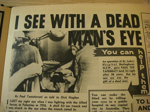 I see with a dead man's eye!