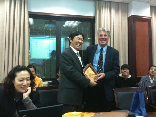 Dr. Xu Xiaozhou (Zhejiang University) and Dr. Mike Searson (Kean University)