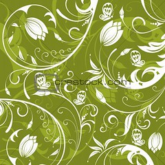 Abstract flower pattern: Darker Green