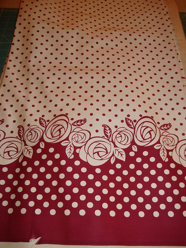 rose border print from Vogue Fabrics, Evanston
