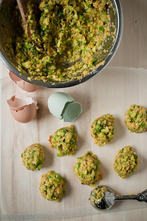 making asparagus balls