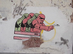 Banana Shooting Stormtroopers (Minty Poster) (The Lens of Lucid Frenzy) Tags: art brighton graffiti streetart posters
