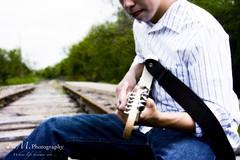 *** ({Emily}) Tags: senior guitar traintracks blah monday railroadtracks hbm ihatemondays atouchofblue shuttersisters senior2009 bethstexture thematernallens