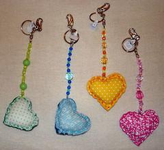 Chaveiros Corao (artesdagabi) Tags: corao chaveiro chaveirocorao