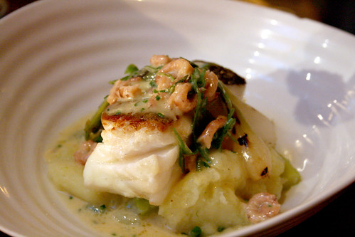 Cod with shrimp butter