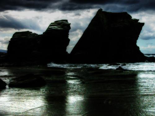 Playa de las Catedrales. Rocas. Cathedrals beach. Rocks.