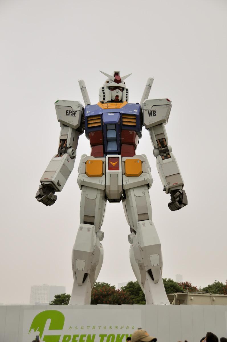 Gundam tamaño real Tokio 6